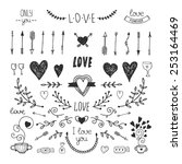 love decorative vintage... | Shutterstock .eps vector #253164469