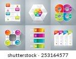 abstract 3d digital... | Shutterstock .eps vector #253164577