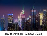 new york city with skyscrapers... | Shutterstock . vector #253167235