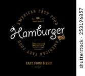 vintage  hamburger background... | Shutterstock .eps vector #253196857