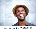 close up portrait of a cheerful ... | Shutterstock . vector #253202191