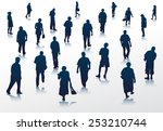 people silhouettes walking... | Shutterstock .eps vector #253210744