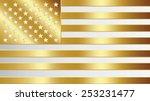 united states gold flag vector... | Shutterstock .eps vector #253231477