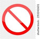 not allowed sign | Shutterstock .eps vector #253242631