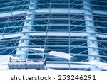 hong kong architecture in blue... | Shutterstock . vector #253246291