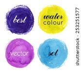 beautiful colorful watercolor... | Shutterstock .eps vector #253251577