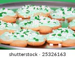 shamrock shaped cookies on a... | Shutterstock . vector #25326163