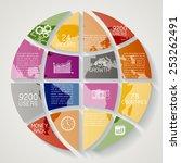 modern infographics option... | Shutterstock .eps vector #253262491