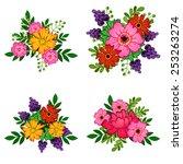 flower set | Shutterstock .eps vector #253263274