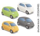 modern car illustration  vector | Shutterstock .eps vector #253269481