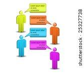 global communication   chat... | Shutterstock .eps vector #25327738