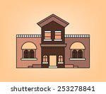 western house in brown tone | Shutterstock .eps vector #253278841
