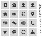 contact icons | Shutterstock . vector #253282735