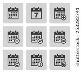 calendar icons | Shutterstock . vector #253282741