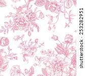 seamless vector vintage pattern ... | Shutterstock .eps vector #253282951