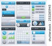 ui design. vector eps 10. | Shutterstock .eps vector #253285945