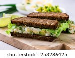 Egg And Avocado Sandwiches Wit...