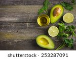 food background with fresh... | Shutterstock . vector #253287091