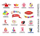 big set of vector logos carnival | Shutterstock .eps vector #253294051