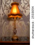 Ancient Lamp In A Bedroom On A...