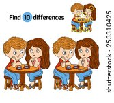 find differences  girl and boy  | Shutterstock .eps vector #253310425