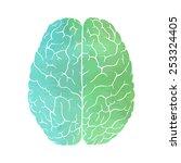 watercolor brain | Shutterstock .eps vector #253324405