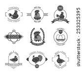 set of poultry farm logo ... | Shutterstock .eps vector #253325395