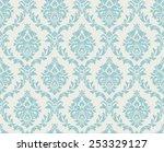 vector seamless damask pattern. ... | Shutterstock .eps vector #253329127