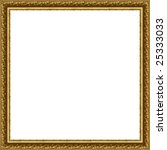 a picture frame on a white | Shutterstock . vector #25333033