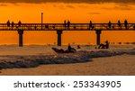 the beautiful sun setting on... | Shutterstock . vector #253343905