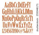 brown font for advertising ... | Shutterstock . vector #253348171