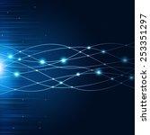 abstract technology global... | Shutterstock . vector #253351297
