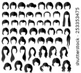woman   man hair  vector