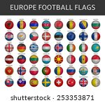 football flag of europe states... | Shutterstock .eps vector #253353871