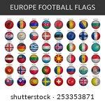 football flag of europe states... | Shutterstock .eps vector #253353871