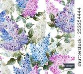 Vector  Lilac  Watercolor ...