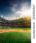 empty baseball stadium 3... | Shutterstock . vector #253356967