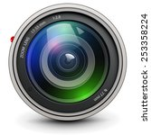 camera photo lens  vector. | Shutterstock .eps vector #253358224