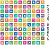 100 delivery icons  universal... | Shutterstock .eps vector #253366645