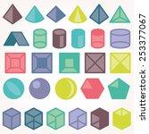 set of icons  geometric logo  | Shutterstock .eps vector #253377067