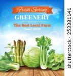 spring vegetables poster design.... | Shutterstock .eps vector #253381141