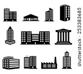 building icons | Shutterstock .eps vector #253383685