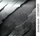 crack metal background template | Shutterstock . vector #253383925