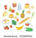 vector food  | Shutterstock .eps vector #253389361