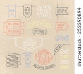 hand drawn ribbons   banners... | Shutterstock .eps vector #253390894