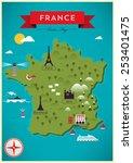 map of france vector... | Shutterstock .eps vector #253401475