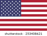 the flag of the united states... | Shutterstock .eps vector #253408621