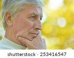 portrait of thoughtful elderly... | Shutterstock . vector #253416547