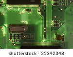 back lighted pcb board with... | Shutterstock . vector #25342348