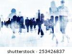 commuter business people... | Shutterstock . vector #253426837